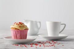 Special muffin för valentindag Royaltyfri Foto