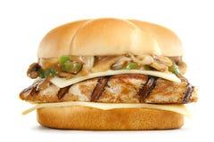 Special mushroom  burger Royalty Free Stock Photo