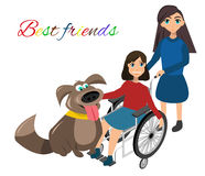 Special needs children with friends Royalty Free Stock Photography