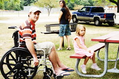 Special Needs Family Campout royalty free stock images