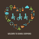 Special Needs Students Inclusion Education Illustration Royalty Free Stock Image