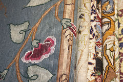 Nice design in iran carpet. Special nice design of iran carpets Stock Photography