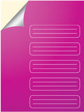 Special note paper design Stock Photography
