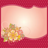 Special occasion card. Vector illustration of flower card for special occasions Stock Photography