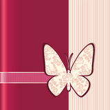 Special occasion card. Vector illustration of Valentine love card with butterfly and flowers Royalty Free Stock Photos