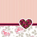 Special occasion card. Vector illustration of Valentine love card with heart of flowers Royalty Free Stock Photos