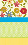 Special occasion flower card. Vector illustration of flower card for special occasions Royalty Free Stock Photo