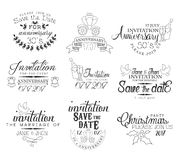 Special Occasion Hand Drawn Invitation Set Royalty Free Stock Image