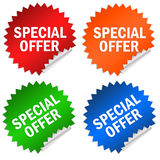 Special offer. Stickers isolated on white Royalty Free Stock Images