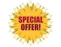 Special Offer. Stars special offer graphic isolated over a white background Stock Photos