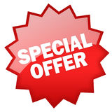 Special offer. Star isolated on white Stock Photo