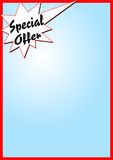 Special offer. Frame with blue gradient and a star with the lettering special offer, useful for offers, advertising. Available as Illustrator-file Stock Photos