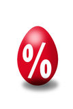 Special offer. Easter egg with percent sign stock illustration