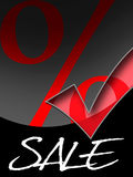 Special offer. With hook and per cent Royalty Free Stock Image