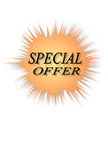 Special offer. Isolated label with the word of special offer Royalty Free Stock Photos