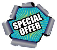 Special Offer. Illustration of a special offer sign Stock Images