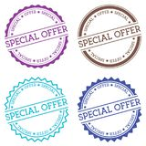 Special Offer badge isolated on white background. Royalty Free Stock Photos