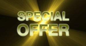 SPECIAL OFFER banner golden light flare Royalty Free Stock Photo