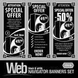 Special Offer Banner Set Vector. In the form of technical panels royalty free illustration