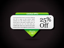 Special Offer Banner Set, Vector illustration Stock Photography