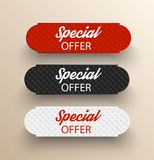 Special offer color banners. Special offer banners. Vector illustration Stock Photos
