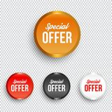 Special offer banners. Vectpr ilustration Stock Images