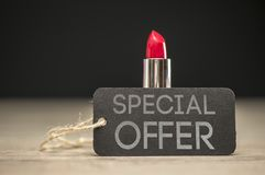 Special offer on beauty products Royalty Free Stock Photo