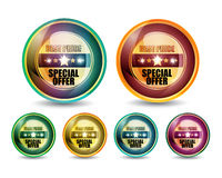 Special Offer 'Best Price' Button Set Stock Photography