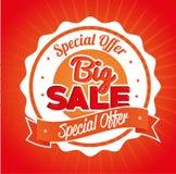 Special offer big sale emblem. Vector illustration eps 10 Stock Photography