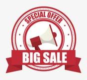 Special offer big sale megaphone banner. Vector illustration eps 10 Royalty Free Stock Images