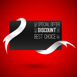Special offer. Blank card with ribbons. Vector ill Royalty Free Stock Photo