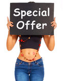Special Offer Board Shows Discount Bargain Products Stock Photography