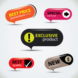Special offer bubbles in vibrant color variations Royalty Free Stock Image