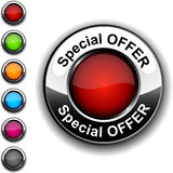 Special offer button. Illustration of  Special offer realistic button Royalty Free Stock Image