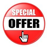 Special Offer Button Stock Images