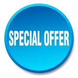 Special offer button. Special offer round button isolated on white background. special offer royalty free illustration