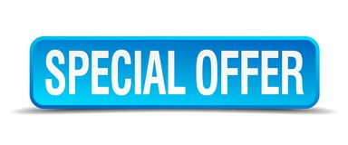 Special offer button. Special offer square 3d realistic isolated web button. special offer vector illustration