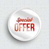 Special offer circle banner on transparent background. vector illustration
