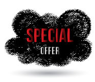 Special offer on cloud black banner Stock Photos