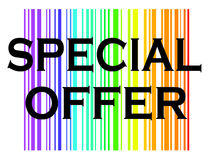 Special offer with colorful background Royalty Free Stock Image