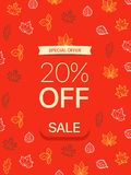 Special offer concept. 20 percent off. Vector illustration vector illustration