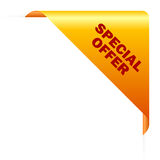 Special offer corner Royalty Free Stock Photo