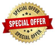special offer 3d gold badge Royalty Free Stock Image