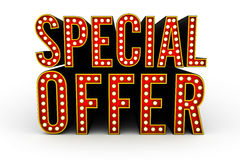 Special Offer 3d Illustration Stock Images