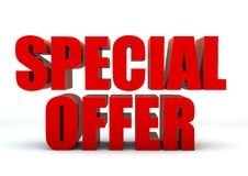 Special offer 3D Royalty Free Stock Photography
