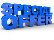 Special Offer. 3D Text over white Background Royalty Free Stock Photos