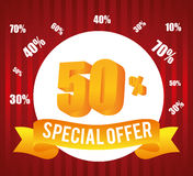 Special offer design. Stock Photography