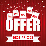Special offer design. Royalty Free Stock Photography