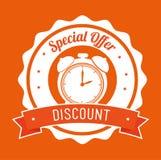 Special offer discount orange stamp banner Stock Images