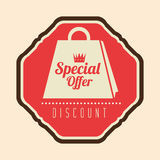 Special offer discount retro label. Vector illustration eps 10 Royalty Free Stock Photos